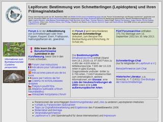 Bestimmungshilfe des Lepiforums